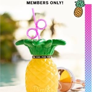 Victoria's Secret PINK Pineapple Drink 🍹Container